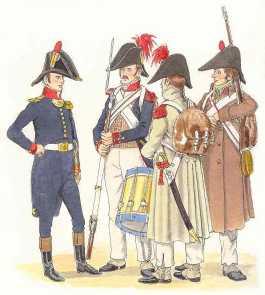 Infanterie de ligne, première époque