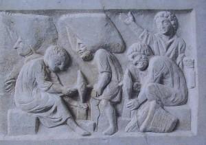 Ostia stèle des mosaïstes
