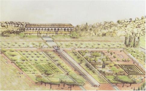Un jardin romain reconstitu caumont sur durance armae - Jardin romain caumont sur durance ...