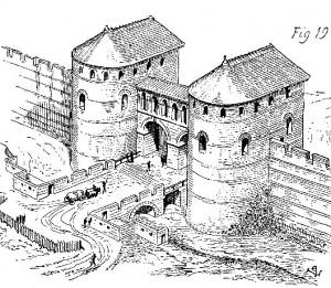Histoire d'une forteresse, murailles du bas empire