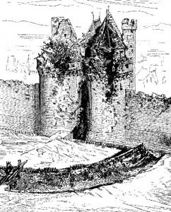 Effet de l'artillerie du XVème siècle