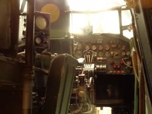 Poste de pilotage, bombardier Lancaster
