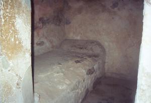 Cellule d'un lupanar a Pompeï