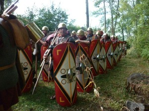 Détachement de la Vème légion en marche, été 52 AVJC