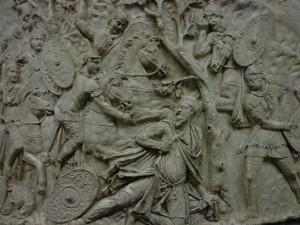 T C Maximus se saisissant du roi Décébale