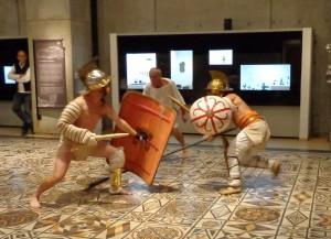 La grande mosaïque du musée et ses combattants
