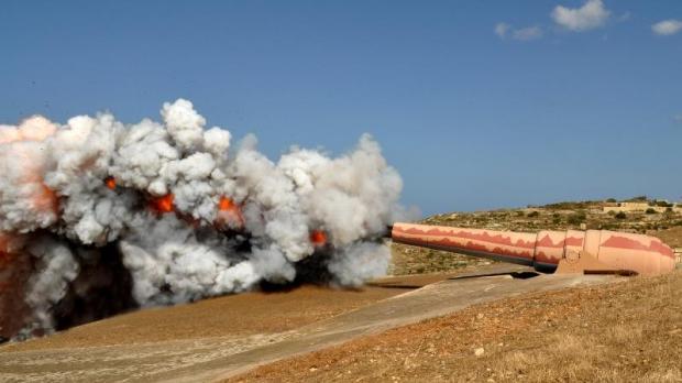 Tir du canon Armstrong de La Vallette
