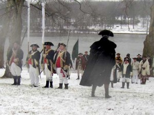 Washington haranguant ses troupes